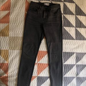 Everlane. Authentic stretch mid rise skinny jeans.